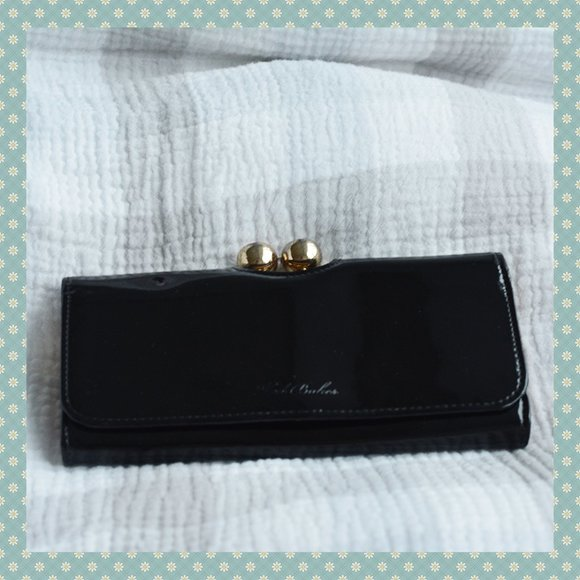 Ted Baker Black Patent Leather Wallet